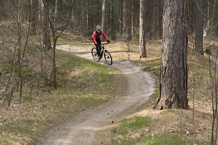 mountainbiken in de Schoorlse Duinen
